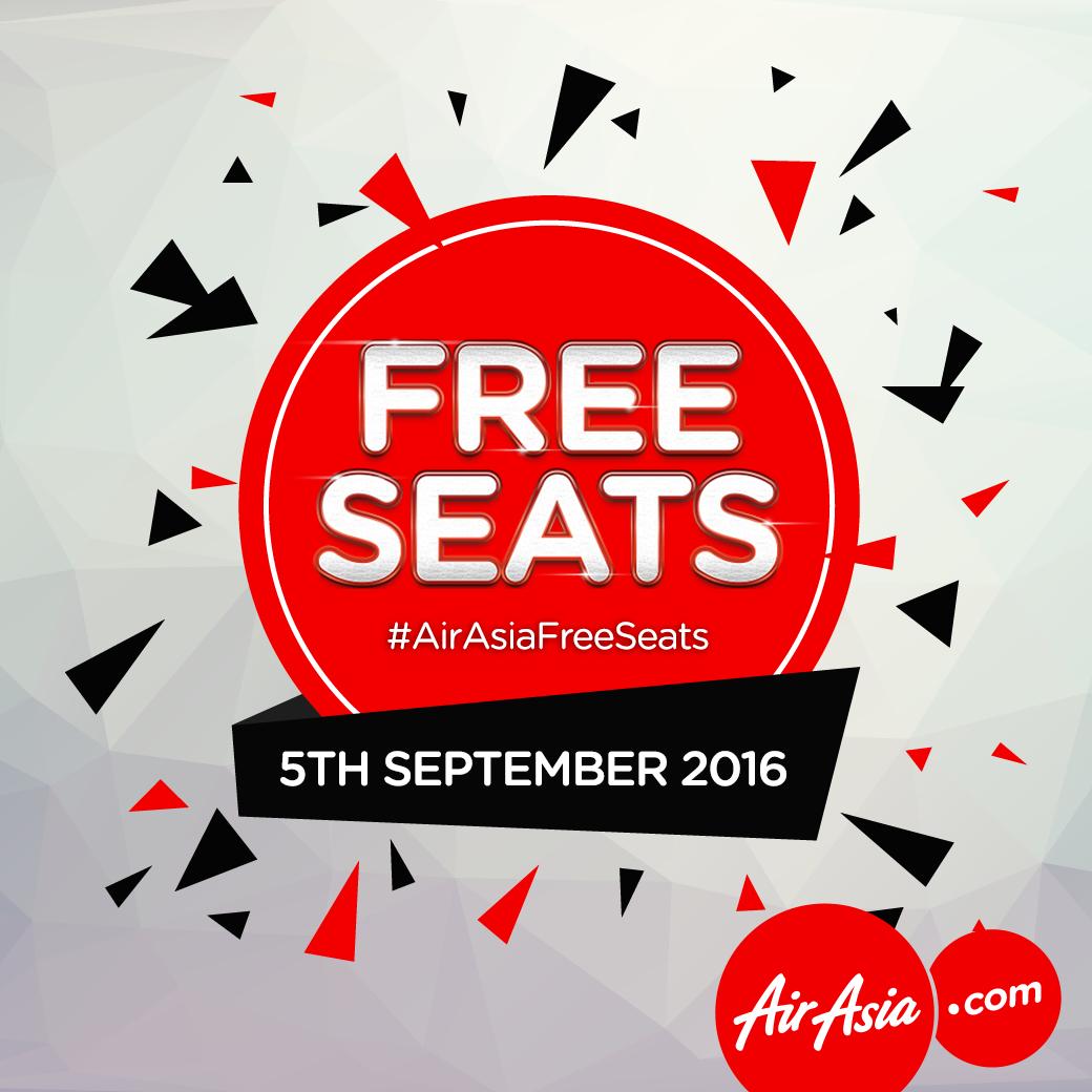 AirASIA Free Seats (+Steuern) am 05. September