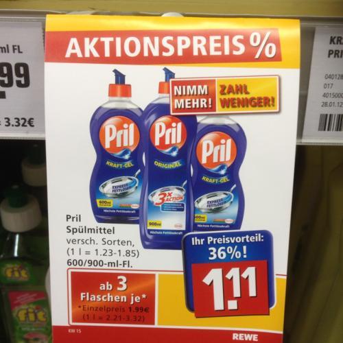 REWE 3x Pril für 3,33€