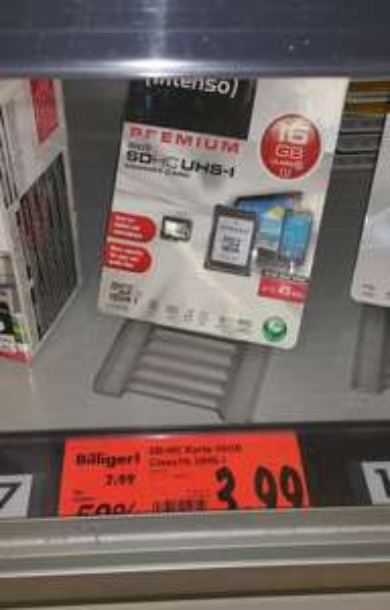 (Lokal Kaufland Hamburg Nedderfeld) Intenso Micro SD 16GB Class 10 für 3,99