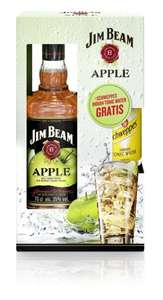 Jim Beam Apple mit Gratis Schweppes Indian Tonic Water Bourbon Whiskey 0,7L für 9,99€ @Amazon.de Blitzangebote