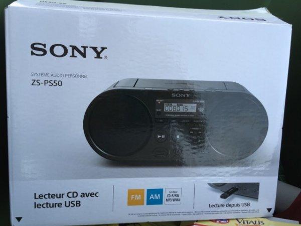 Sony ZS PS50 CD-Radio System für 44,95€ oder 38,20€ mit Gutschein PVG 70,50€ In Staples Filialen