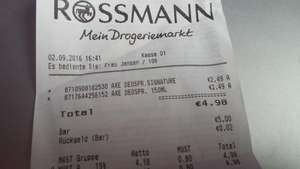 AXE Bodyspray  Rossmann [Lokal Neuss-City]