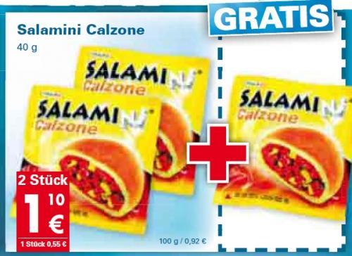 3 x 40g Salamini Calzone @Mäc-Geiz [Groß-Region = ca. 45% BRD]