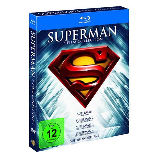 Superman - Die Spielfilm Collection 1978-2006 (Bluray) für 12,99€ [Real Abholung]