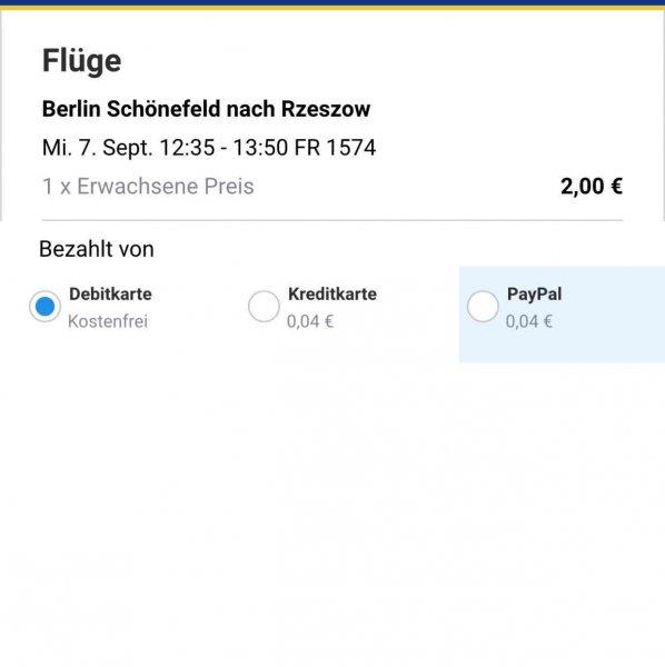 Flug Berlin - Polen für nur 2€ inclusive Steuern und Gebühren :) .