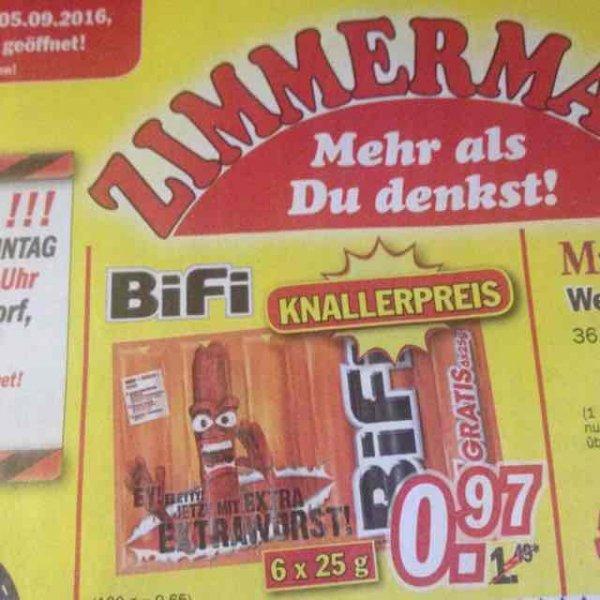 Bifi 6er Pack für 0,97 Euro bei Zimmermann