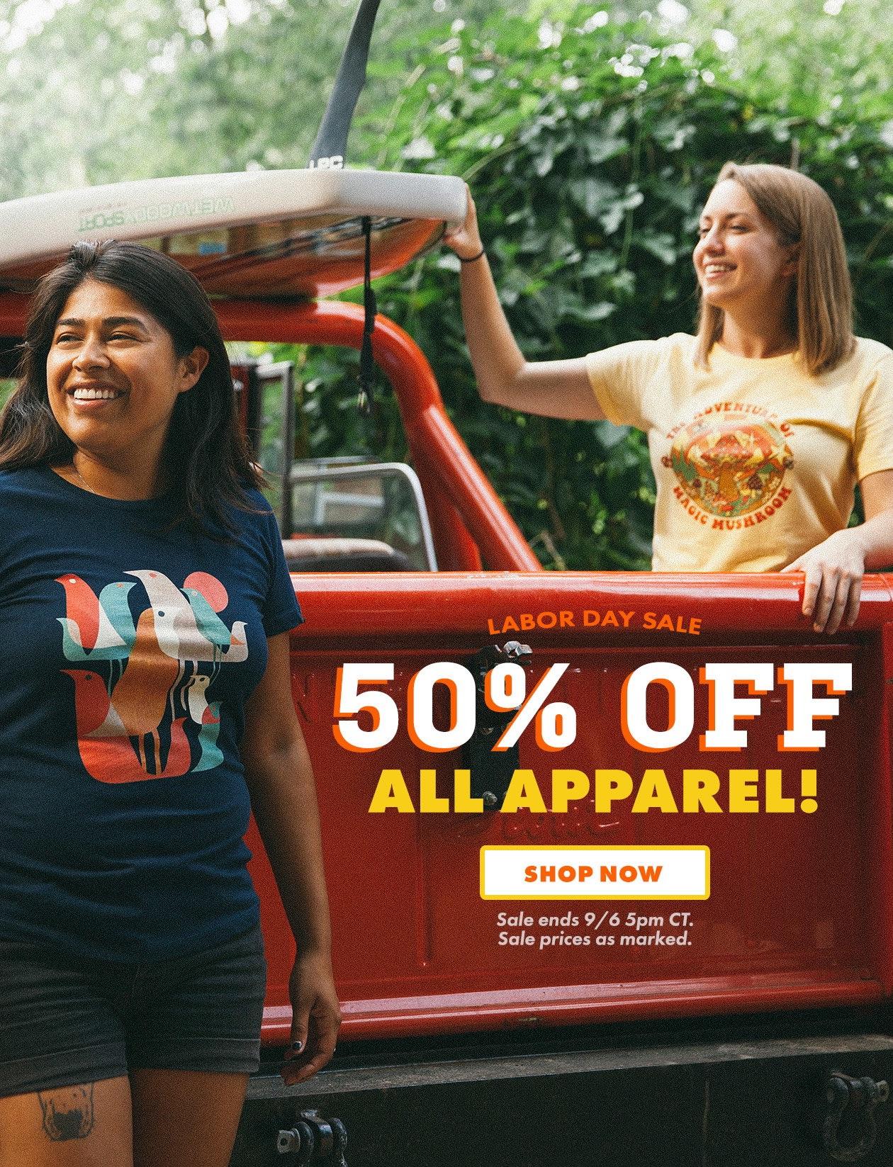 50% auf alle Kleidung bei Threadless
