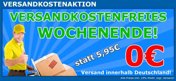 0€ statt 5,95€. Keine Versandkosten am Wochenende bei Werkstatt-Produkte!
