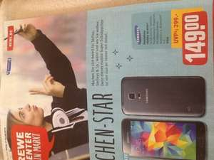 REWE Center: Samsung Galaxy S5 Mini für 149 Euro; idealo ab 186,90.