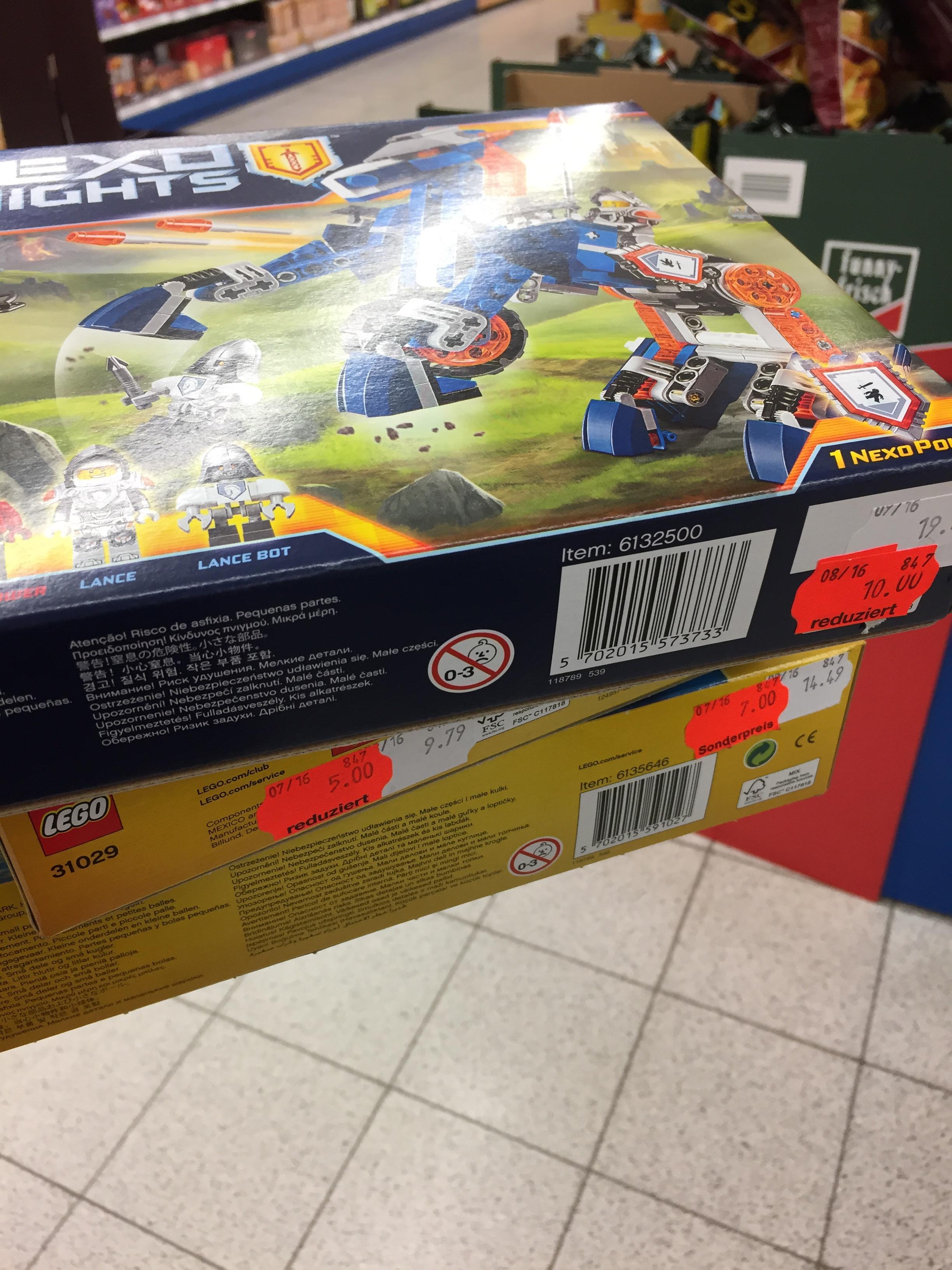 [Lokal] Sky XXL Lübeck viele Lego Pakete reduziert z.B. Nexo Knights 70312 für 10€ statt 16€