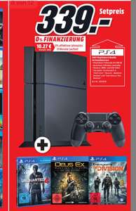 [Lokal MM Paderborn] PS4 500GB mit Uncharted 4, The Division und Deus Ex: Mankind Divided