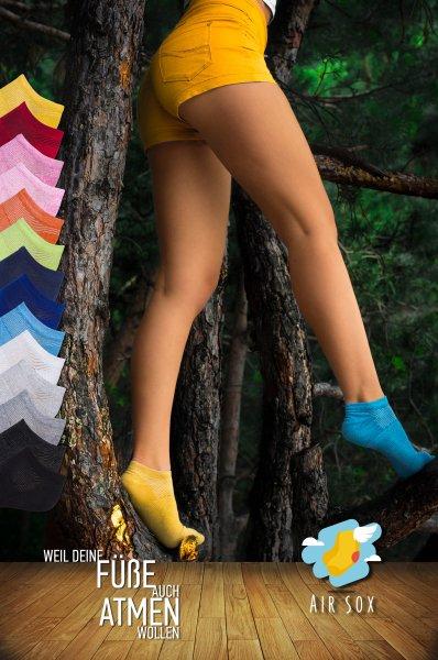 AirSox   12 Paar Sneaker-Socken   weil Deine Füße auch atmen wollen   [-77,7%]