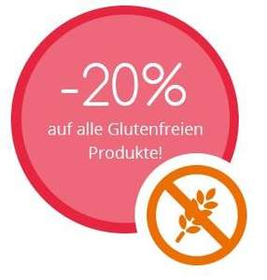 20% Rabatt auf alle Glutenfreien Artikel bei my-bakery.de