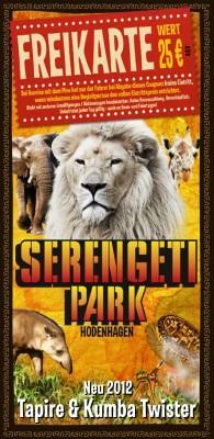 Freikarte für den Serengeti-Park in Hodenhagen für Autofahrer (Normalpreis 25€)