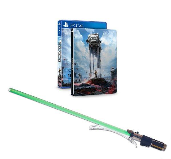 [Amazon.de] Star Wars Battlefront PS4 Steelbook Edition inkl. Lichtschwert Yoda (Black Series Force FX Hasbro = Deluxe-Ausführung mit Metallgriff) für 103,88 € (statt 240+ €)