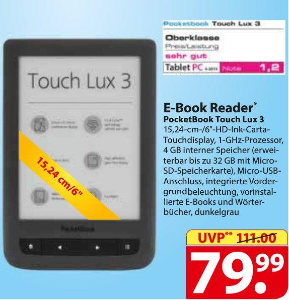 [Regional/Schleswig-Holstein/Hamburg] Famila - PocketBook Touch Lux 3 eBook-Reader 79,99€