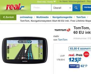 [Real Online/Offline] TomTom Navigation Start 60 EU Lifetime Maps
