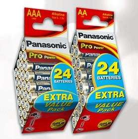 Saturn.de Panasonic AA/AAA Batterien 24x für 9,99€ inkl. Versand SHOP-Sonntag