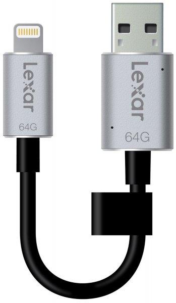 Lexar JumpDrive C20i 64GB USB 3.0 Flash Drive für Iphone, Ipad, (Speichererweiterung) bis zu 95MB / s Lesen und 20MB / s Schreiben für 46,90€ @Amazon.de Blitzangebote