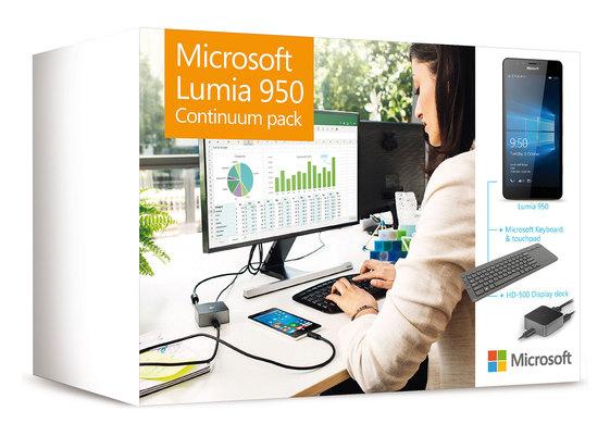 Grenzganger BE: Lumia 950 Single sim + continuum dock + tastatur + 1 jahr office 365 bei Krëfel in Belgien