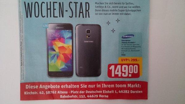Regional toom markt Altena, Dorsten, Herne: Samsung S5 Mini 16GB
