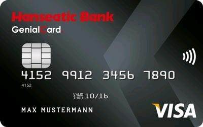 [Hanseatic Bank] Genialcard ohne Gebühren mit 75€ Startguthaben