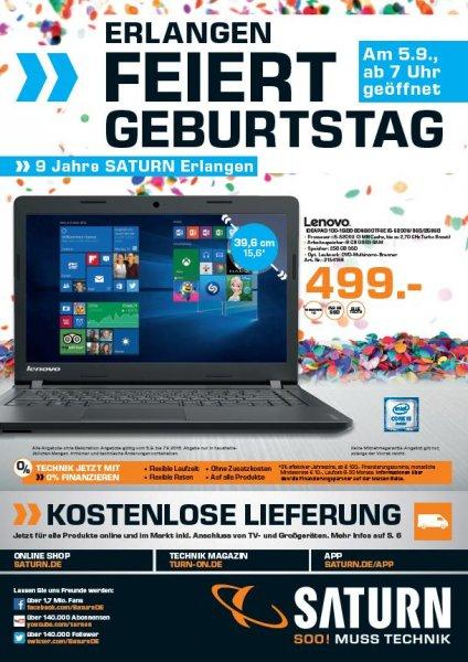 "Saturn Erlangen ""Lenovo Ideapad 100-15IBD 80QQ00TFGE i5-5200U/8GB/256GB"