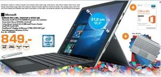 "Saturn Erlangen "" Microsoft Surface 4 inkl. Tastatur & Office 365"
