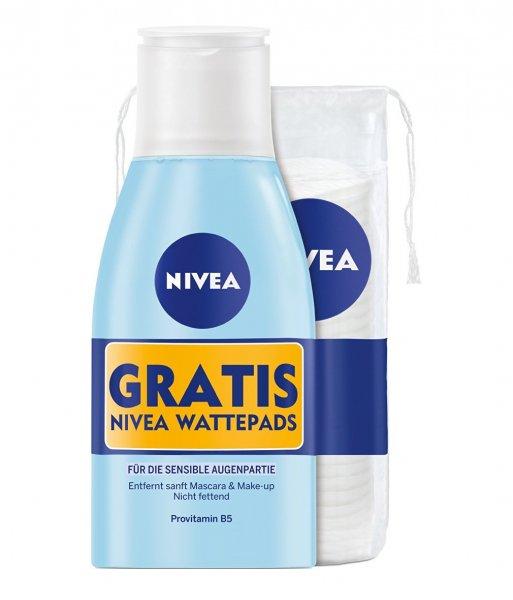 [Amazon Sparabo] Nivea Augen Makeup Entferner plus gratis Wattepads / 3er Pack (3 x 125 ml) für 1,76€