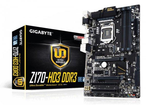 [NBB] Gigabyte GA-Z170-HD3 DDR3, Sockel 1151, 6x SATA 3, HDMI,DVI,VGA 66€