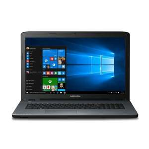 "MEDION AKOYA P7641 MD 60091 17,3"" Zoll Notebook, Intel Core i5-6200U, 2,5GHz, 8GB RAM, 256GB SSD, NVIDIA GeForce 930M, Bluetooth 4.0, HDMI, USB 3.0, Brenner, Windows 10, silber für 594,99€ @Amazon.de Blitzangebot"