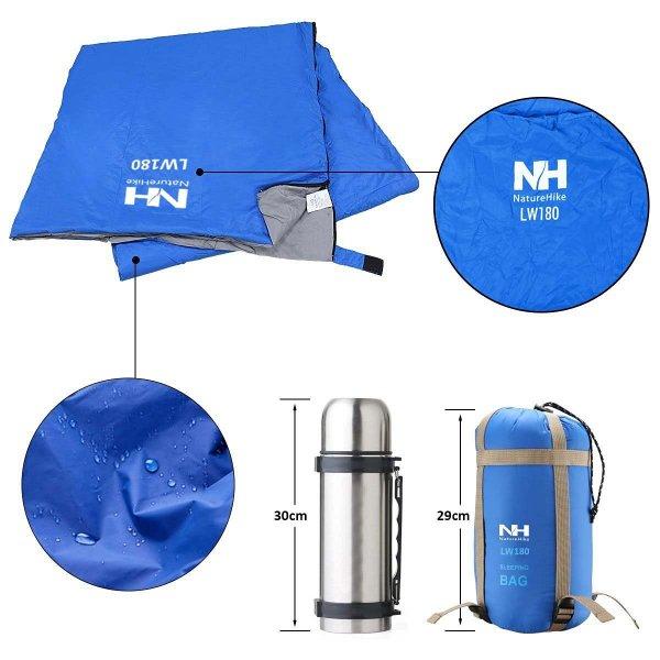 ECOOPRO Warm Wetter Outdoor Camping Umschlag Schlafsack für 3 Jahreszeiten (Frühling, Sommer, Herbst)