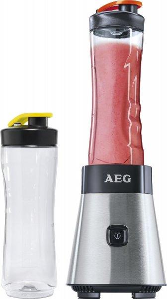 AEG SB2500 Standmixer (300 Watt, inkl. 2x 0,6l Flaschen, Vier-Klingen-Edelstahlmesser) edelstahl