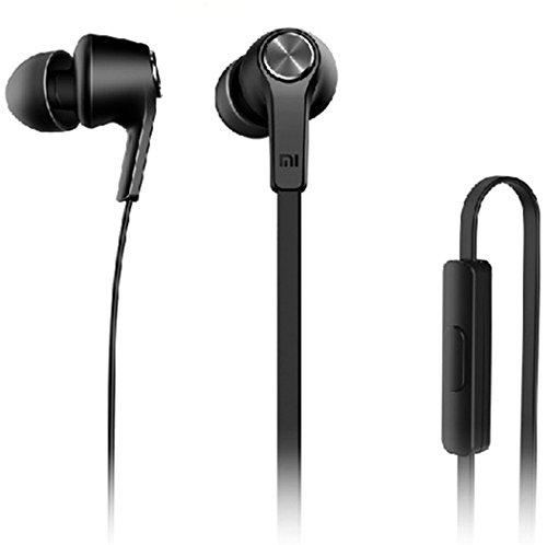 [Prime] Original Xiaomi Piston In-Ear Kopfhörer mit Mikrofon und Fernbedienung Stereo Headset Schwarz für Android / Samsung / iphone / 6s 6s plus / 6.6 plus / 5s / 5(Piston schwarz)