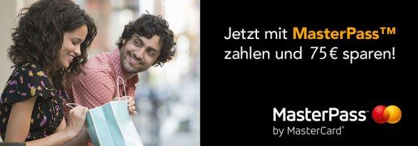 [Mydays] 75 € Rabatt bei Bezahlart Masterpass (Mbw 150 €)