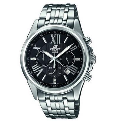 (Amazon.co.uk) Casio Edifice Herren Edelstahl Armbanduhr, 42 Millimeter, Mineralglas, Datum, 10 bar Wasserdicht, Leuchtzeiger für 64€