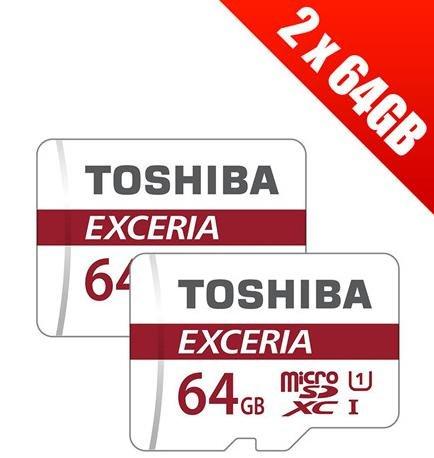 2x Toshiba Exceria microSDXC 64GB Class 10 für 24,24€ (Base.com)