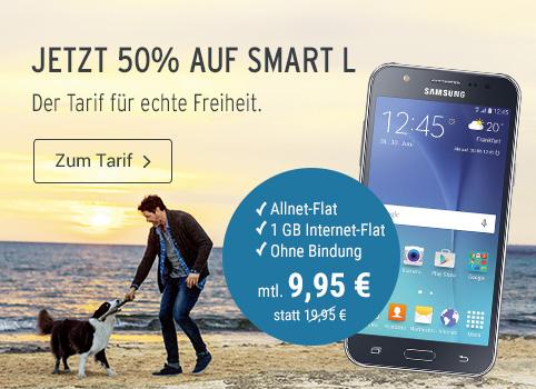 50% auf den SMART L Tarif + 50 € Cashback