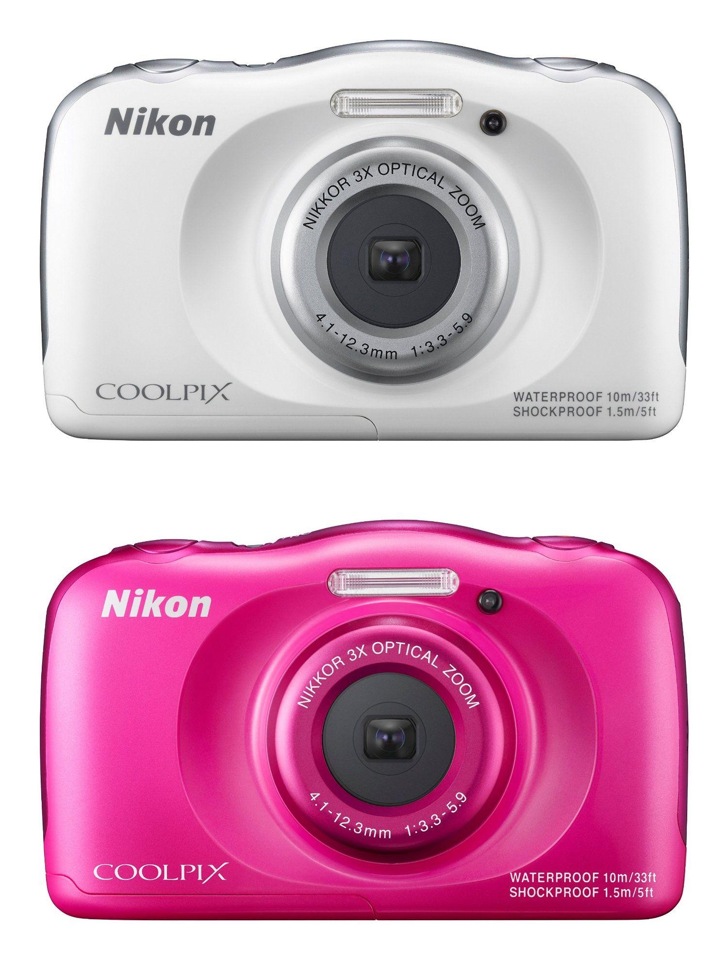 """Nikon™ - Digitalkamera """"CoolPix S33"""" (13,2MP,3xopt.Zoom,Full HD Mov.,Bildstabilisator,Wasserdicht,Staubdicht,Stoßfest) für €85,14 [@Amazon.fr]"""