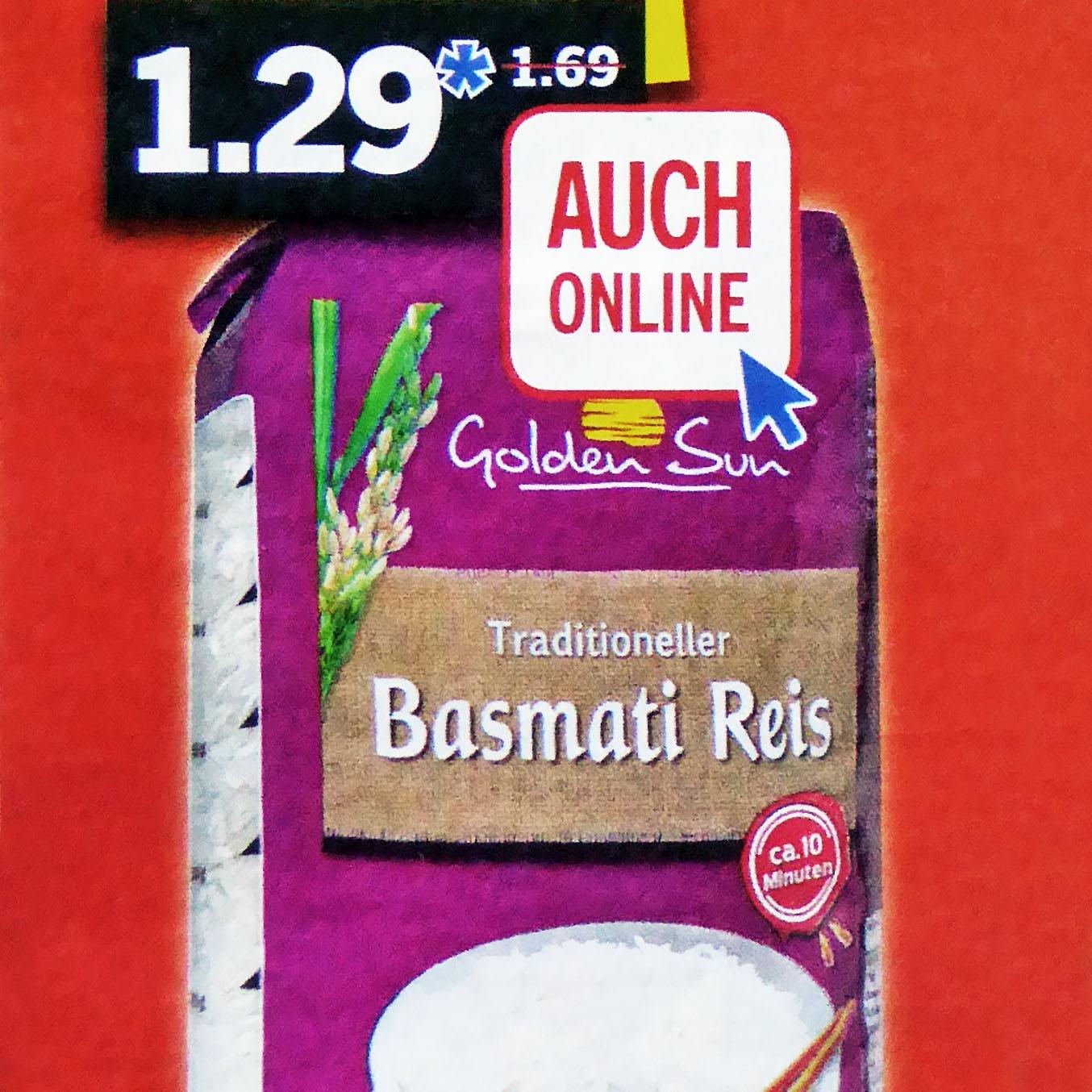 Basmati Reis 1 kg am Samstag, dem 17.9. für nur 1,29€  bei [Lidl]