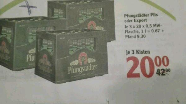 3 Kisten Pfungstädter Pils oder Export für 20€
