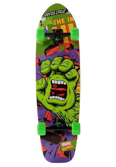 Marvel Hulk Hand 9.2x27x27 x 33.0 Komplett Skateboard Longboard Limitierte Marvel Edition