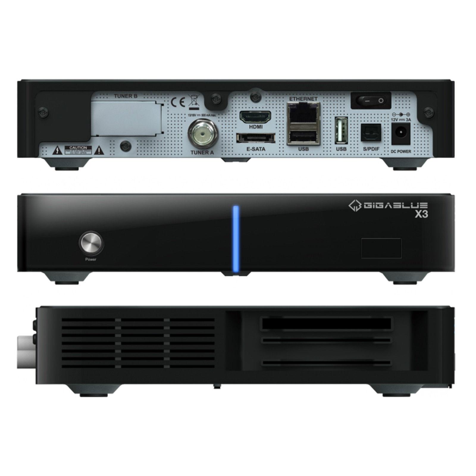 GigaBlue HD X3 für 129€ bei eBay - Linux-Receiver mit CI+, IP-TV, HbbTV uvm