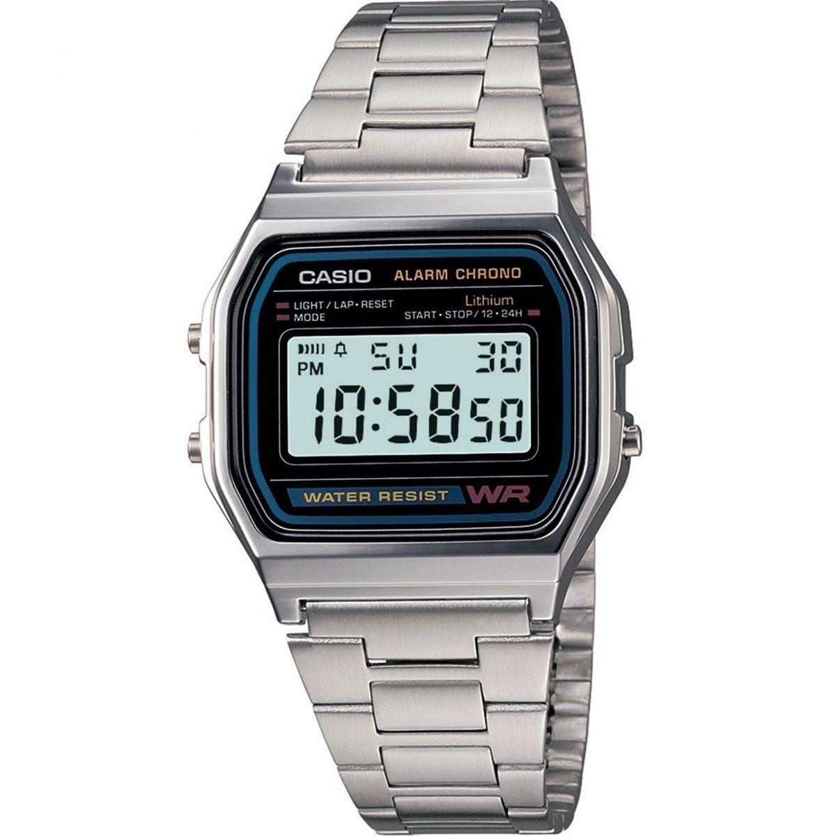 [ebay] Casio Collection Armbanduhr A158WA-1DF Silber 18,99 inkl. Versand