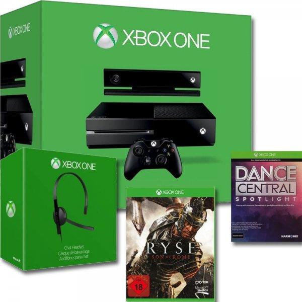 (eBay) Microsoft Xbox One 500GB + Kinect Sensor + Ryse Son of Rome + Dance & Central Spotlight + Xbox One Headset (refurbished) für 209€