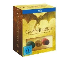 (Saturn) Game Of Thrones - Staffel 5 + 3 Dracheneier (5x Blu-ray) für 28€