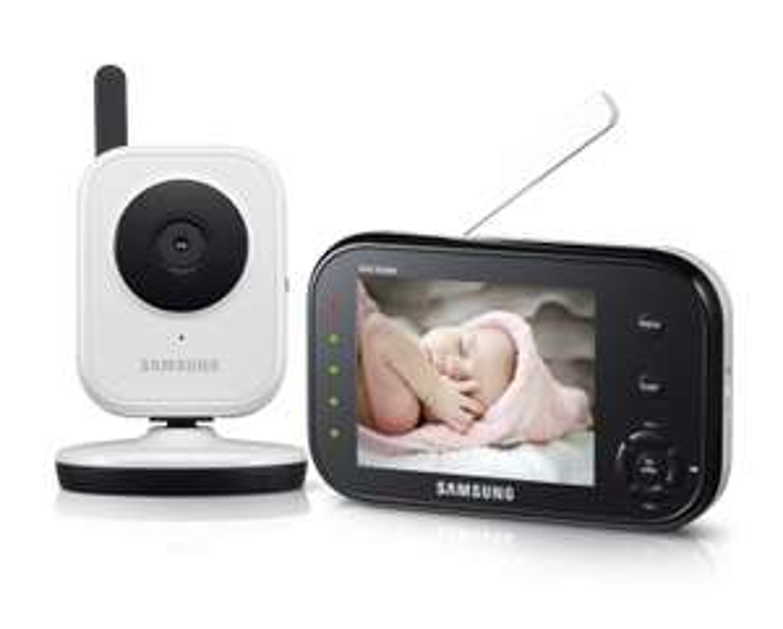 [Amazon WHD] Samsung SEW-3036 Baby Kamera (8,9 cm (3,5 Zoll) LCD-Monitor, bis 4-Kameras, QVGA, CMOS-Sensor, Nachtsicht) weiß