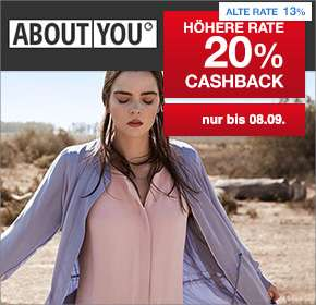 20% About You Cashback bei Shoop + 20% Sale