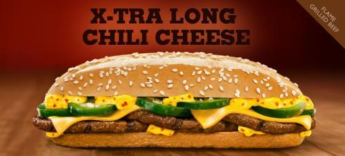 [BUNDESWEIT] X-tra Long Chili Cheese --> 2 zum Preis von einem [BURGER KING]