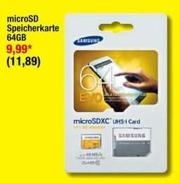 Samsung EVO 64GB SDXC Speicherkarte Metro für 11,89